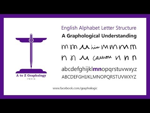 m & n for habits & actions? Letter clues: Graphological meaning of letter 'm & n': A to Z Graphology