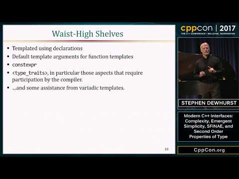 "CppCon 2017: Stephen Dewhurst ""Modern C++ Interfaces..."""