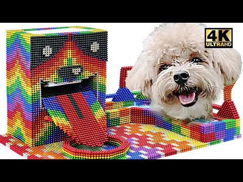 DIY - Make Puppy Dog Food Dispenser At Home From Magnetic Balls (Satisfying) | Magnet World Series