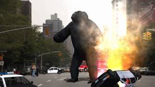 King Kong in New York green screen effects