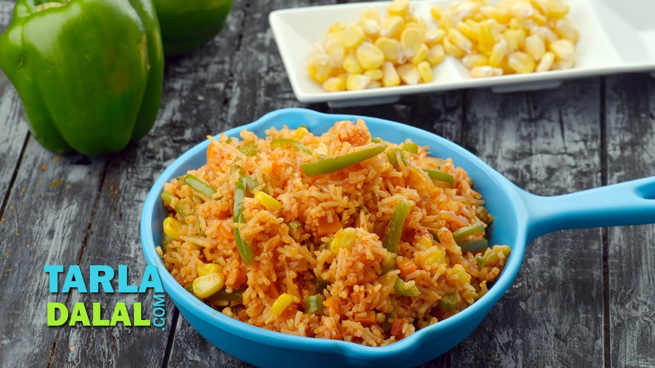 Mexican Fried Rice by Tarla Dalal - YouTube