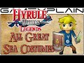 Hyrule Warriors Legends - All Great Sea Adventure Mode Costumes (3DS)