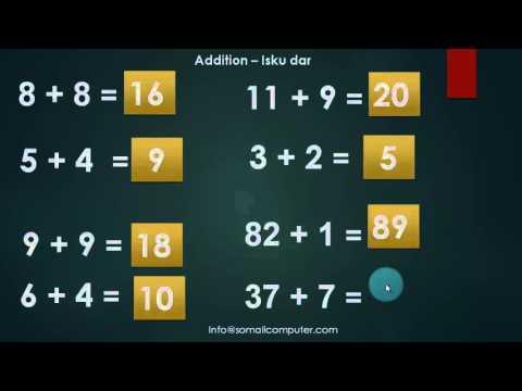 Xisaab iskudar - Casharka 1aad -Math Les1 - YouTube