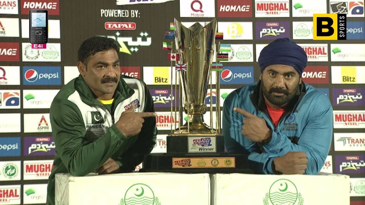 Kabaddi World Cup 2020 Pakistan Vs India Final Captains Interview Youtube