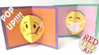 Emoji DIY - Easy Pop Up Card - Get Well Soon
