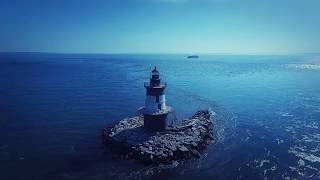DJI Phantom 3 - Orient Point Lighthouse Drone Footage, Long Island, NY