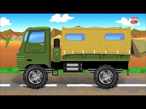 Tentara Truk-Mobil Garasi   Kartun Untuk Anak   Populer Anak Video   Army Truck   Car Garage