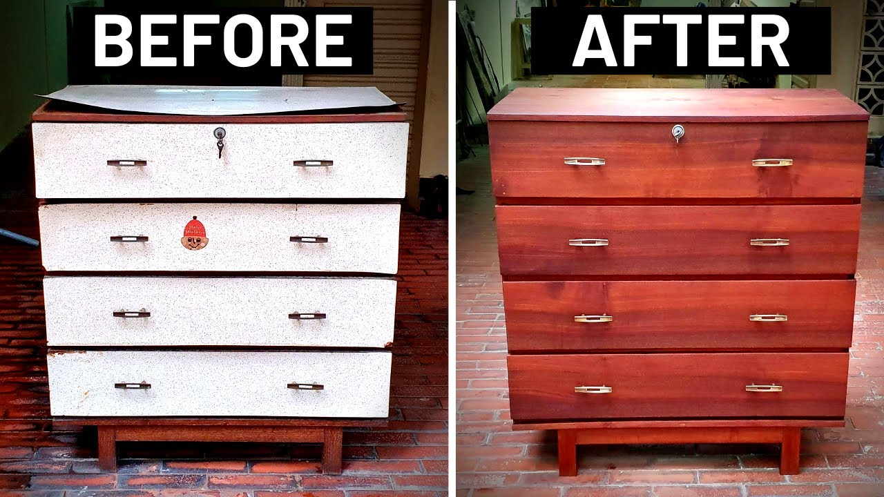 How to Restore a 50 Year Old Dresser | Mid Century Furniture Restoration