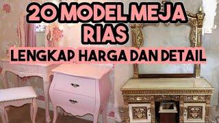 18 Model Meja Rias Harga Mulai 2 Jutaan Desain Minimalis Dan Ukir