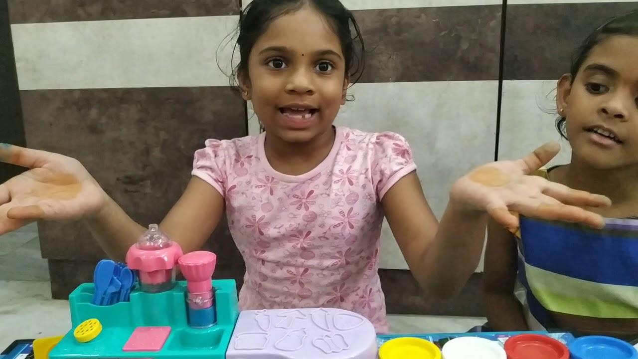 Funskool Kitchen Set With Play Doh Unlimited Fun Pretend Play Mahitha Yamini Youtube