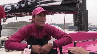 Volvo 70 Team SCA womens team arrival in Plymouth - Rolex Fastnet Race 2013