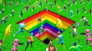 16 Players vs Giant Rainbow Dropper! - Simon Says Challenge