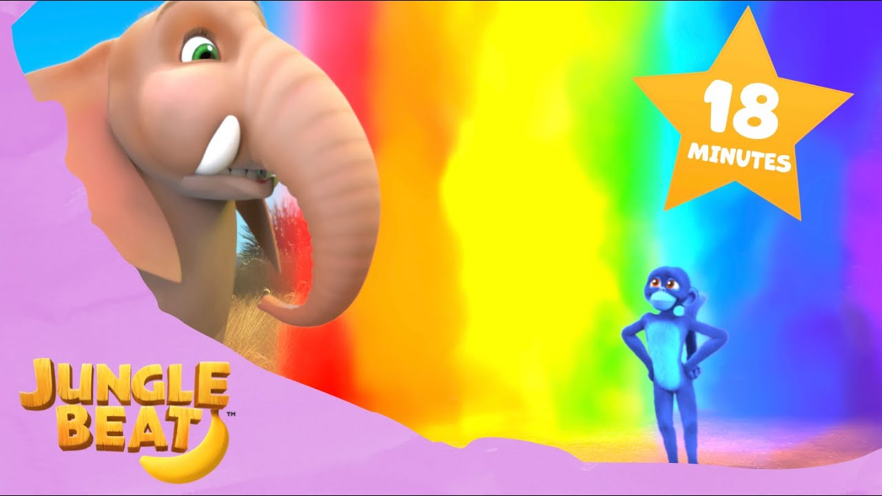 COLORFUL Compilation | Jungle Beat: Munki and Trunk | VIDEOS and CARTOONS FOR KIDS 2021