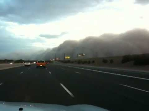 Driving through an Arizona Haboob Dust Storm, Chandler and Phoenix