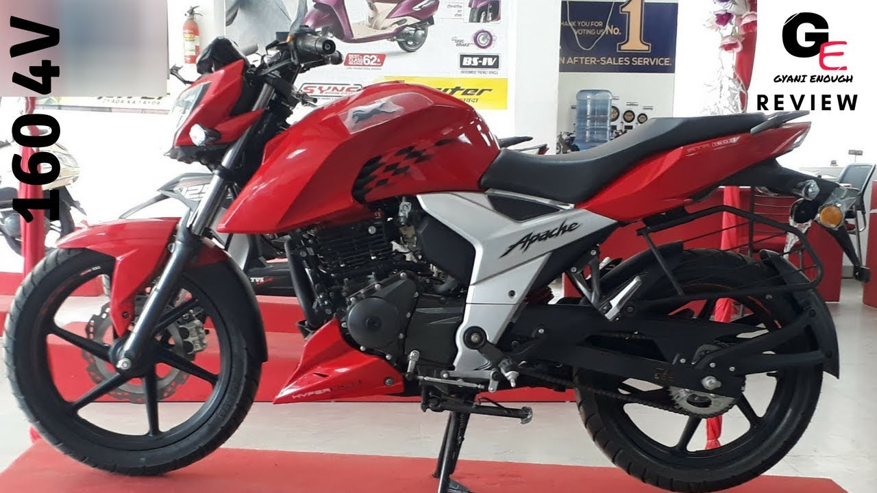 TVS Apache RTR 160 4V | RR RED | most detailed review | price | features |  mileage !!!