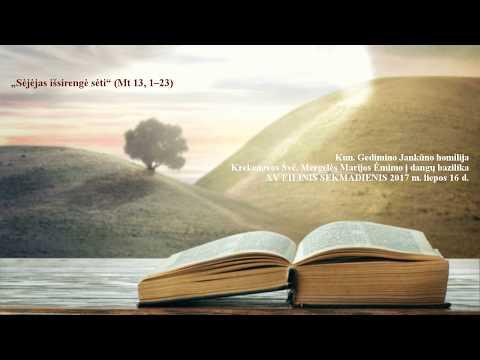 """156. """"Sėjėjas išsirengė sėti"""" (Mt 13, 1–23) Kun. Gedimino Jankūno homilija"""