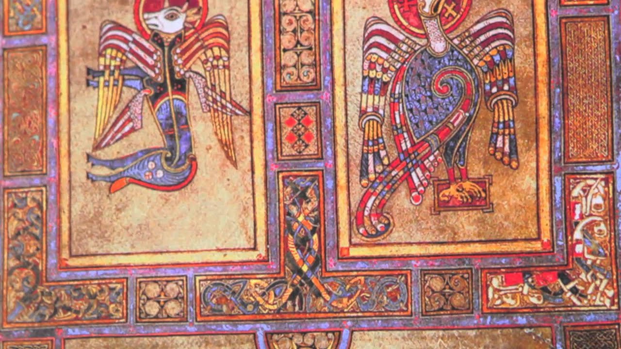 4 Evangelists Book Of Kells Celtic Window Hang Youtube