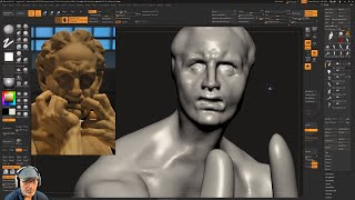 Sculpting Ugolino and His Sons by Jean-Baptiste Carpeaux using ZBrush 2018 - Part - 04