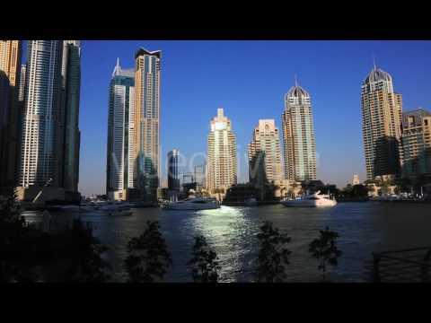 Shot Of Modern Buildings At Dubai Marina, United Arab Emirates 3 - Stock | VideoHive 12880751