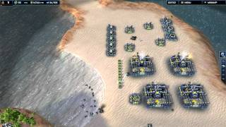Supreme Commander 2 Skirmish UEF (me)  vs Illuminate (normal AI)