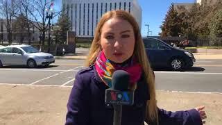 Акция протеста у российского посольства в Вашингтоне