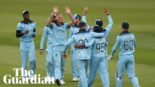 Cricket World Cup: England team react to Ben Stokes' 'catch of the century'