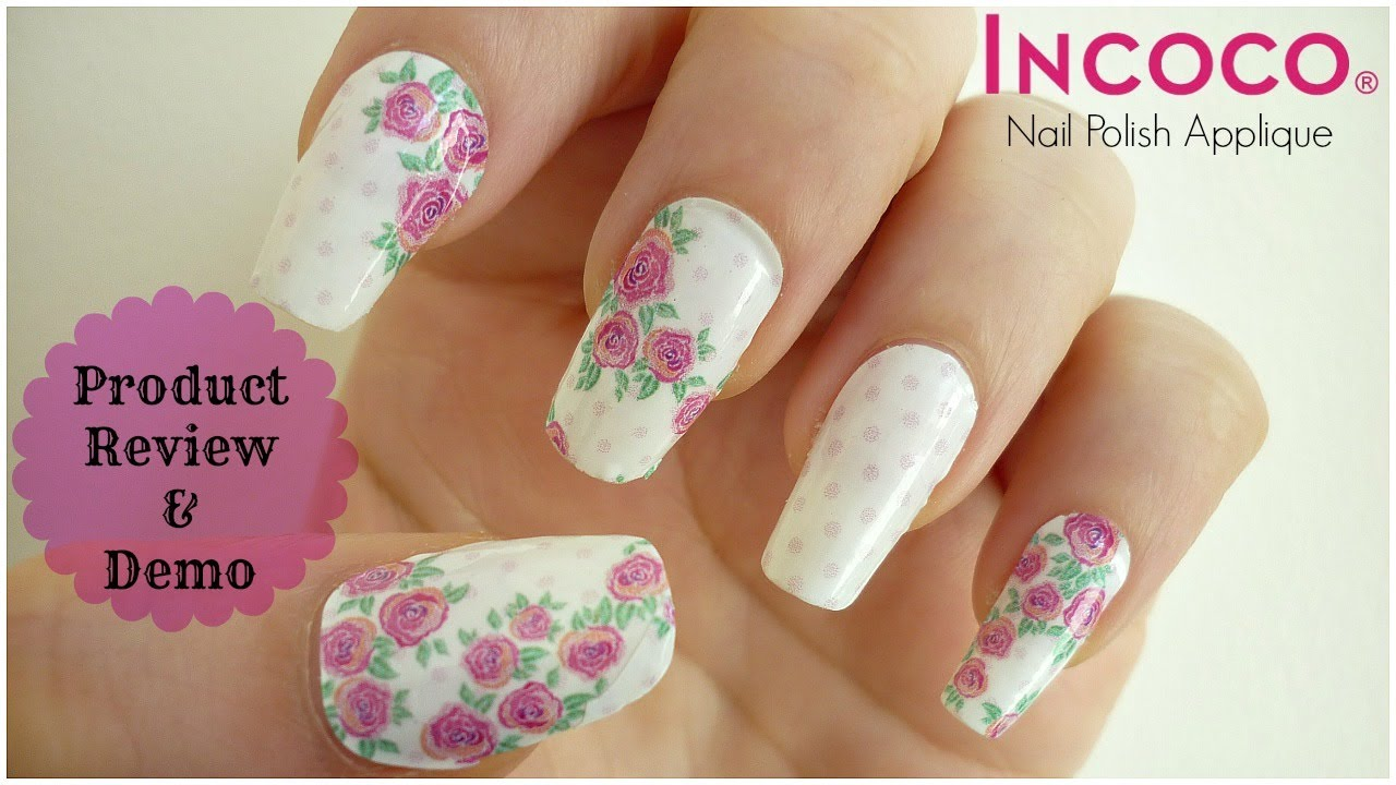 Incoco Nail Polish Applique Product Review & Demo! - YouTube