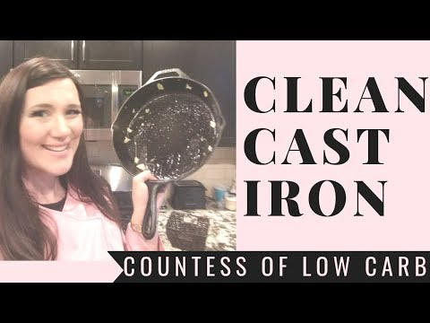 How To Clean Cast Iron Skillet After Cooking 🍳 Cast Iron Cleaning