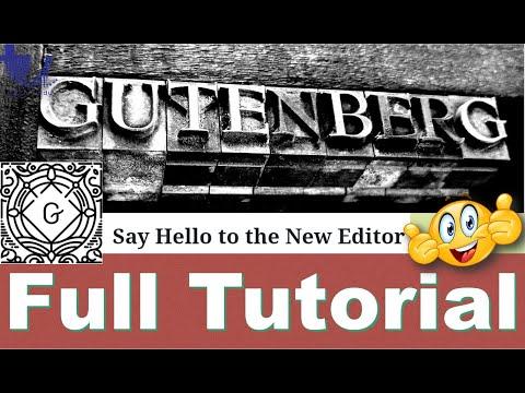 Gutenberg Editor (WordPress 5.0 & Above) | The Ultimate Tutorial [Urdu/Hindi/English Subtitles]