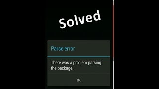 How to fix parse error WITHOUT ROOT              !!!!ANY APP!!!!