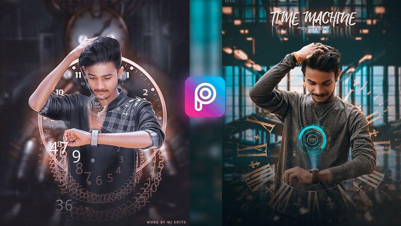 TIME MACHINE - PicsArt Viral Futurustic Editing || Manipulation Watch  overlay editing by Lightroom
