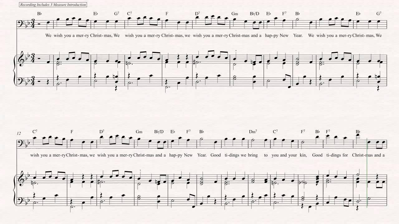 Euphonium - We Wish You a Merry Christmas - Christmas Sheet Music ...