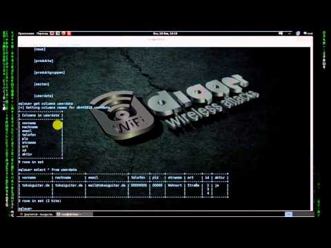 Kali Linux Tools - SQL Inlection with SQLSUS