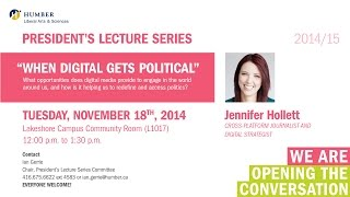 President's Lecture Series: Jennifer Hollett