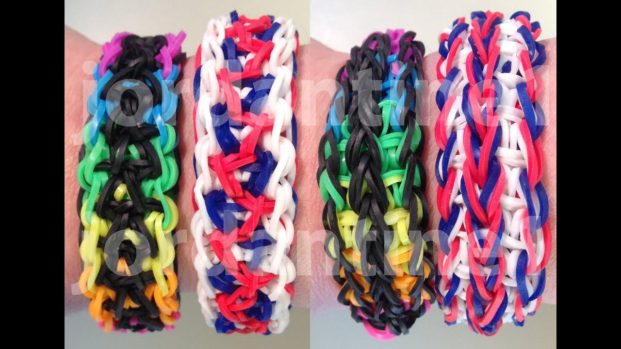 New Double Unity Bracelet Reversible Rainbow Loom