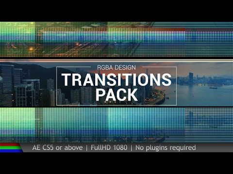 After Effect Template Free | Transitions Pack