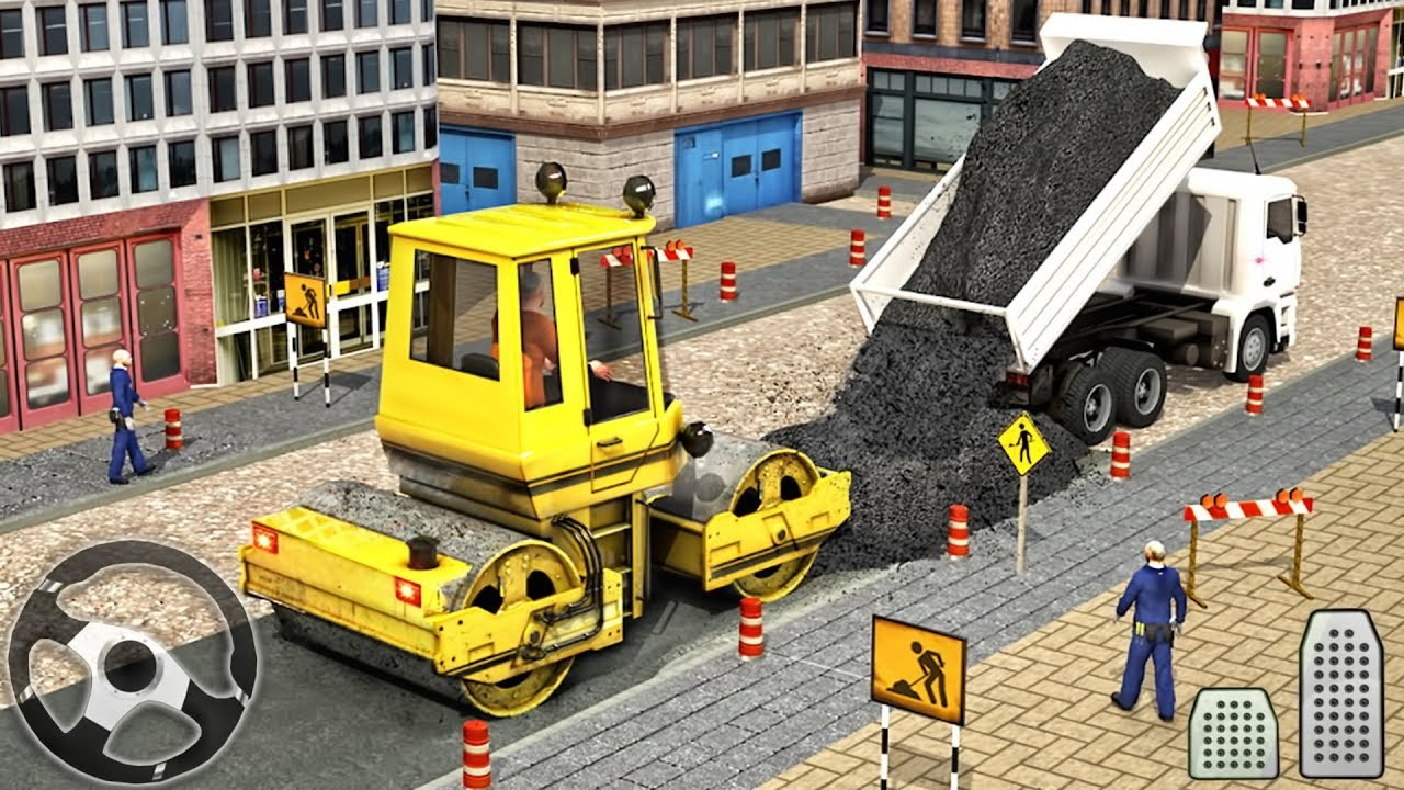 Construction Vehicles Road Builder - Excavator Simulator - Android GamePlay
