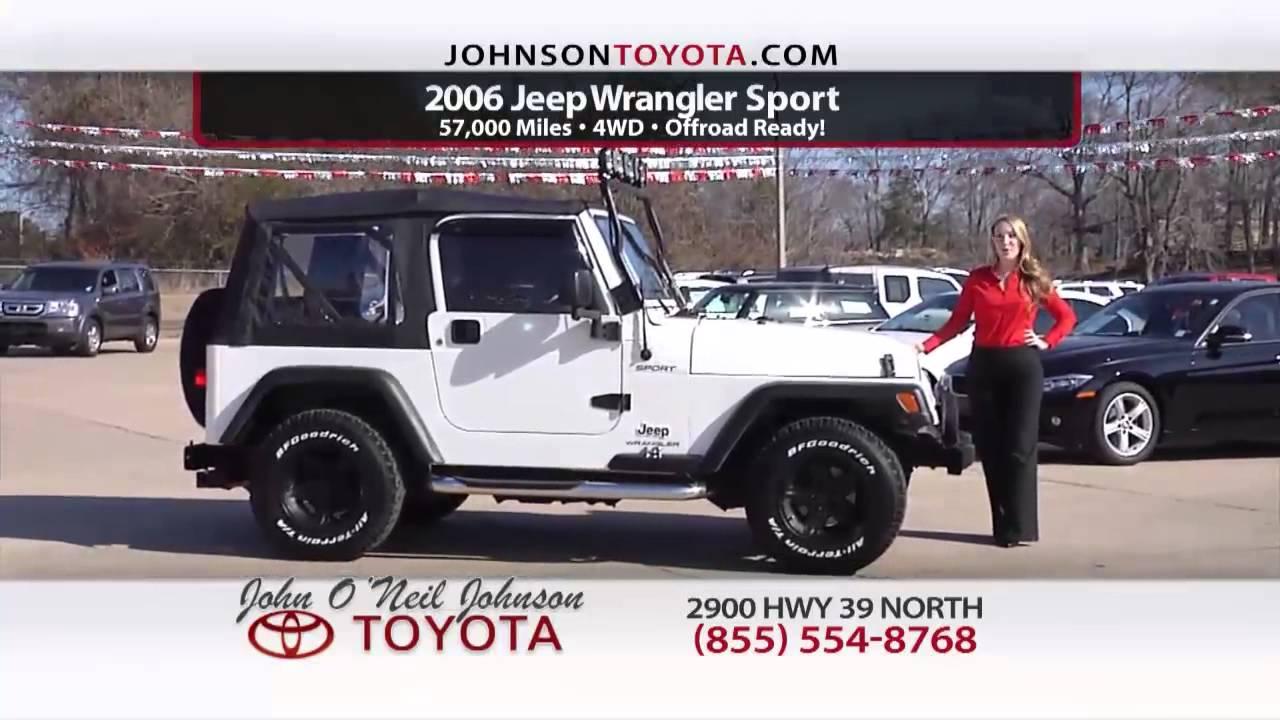 John O Neil Johnson Toyota Used Car Specials Meridian Ms