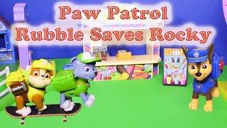 PAW PATROL Nickelodeon Paw Patrol Rubble Saves Rocky a Paw Patrol Video Parody