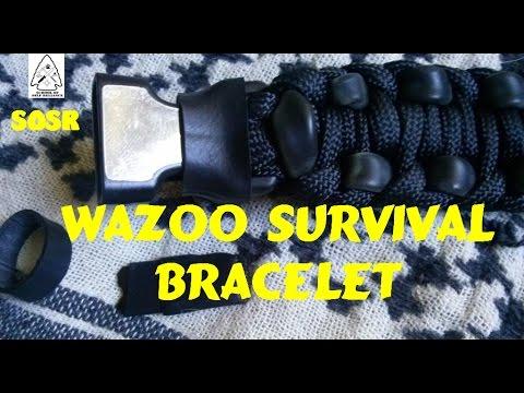 Wearable Survival Kit EDC Wazoo Survival Bracelet Review