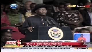 Kenya at 50: President GoodLuck Jonathan speech