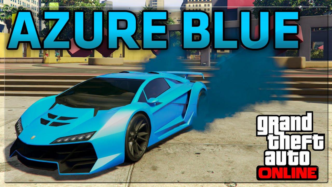 Gta 5 Online Best Rare Paint Jobs Azure Blue Secret