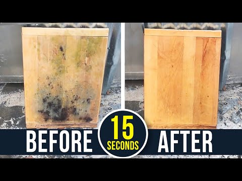 How To Remove Toxic Black Mold From Wood!
