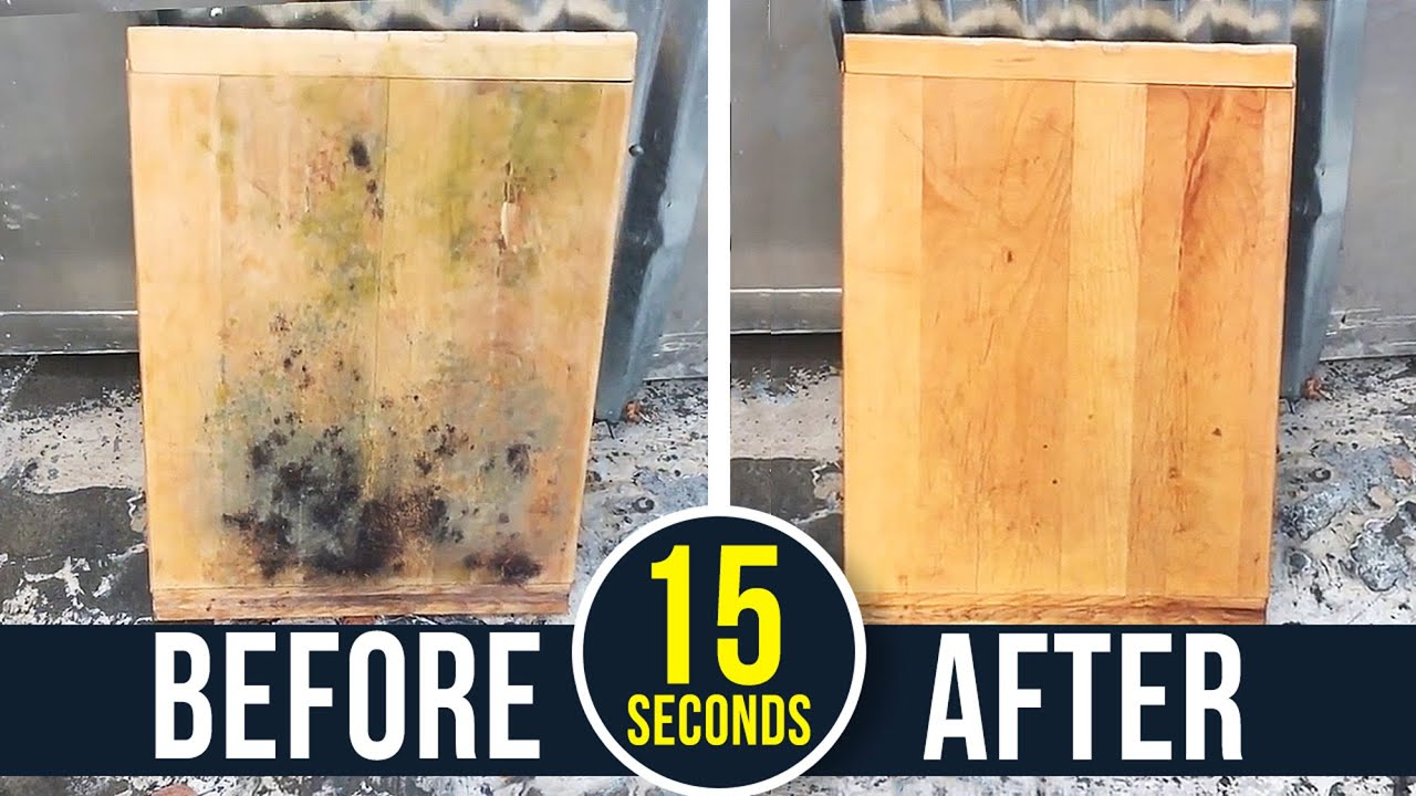 How To Remove Toxic Black Mold From Wood Youtube