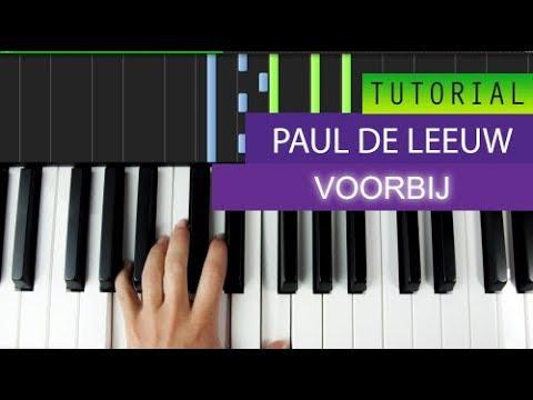 Paul de Leeuw - Voorbij - Piano Tutorial + MIDI Download