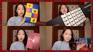 크리스마스날 같이 뷰티 캘린더 4개 뜯어보아요 🎁Opening Beauty Advent Calendars on Christmas Day!