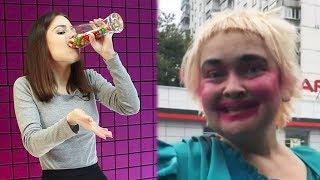 Самое смешное видео в мире. Попробуй не засмеяться с конфетками во рту челлендж