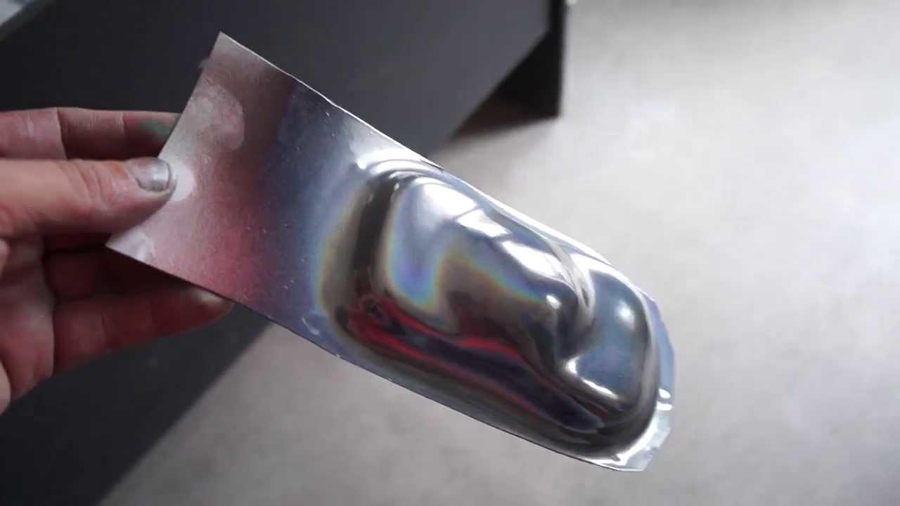 Краска Эффект хрома «CHROME» - накладка на зеркало - YouTube