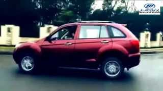 Бордовый Lifan X60 SUV (Лифан Х60 СУВ) 2015 по городу