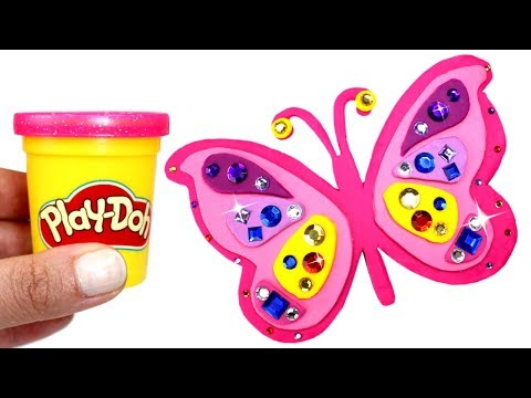 Play Doh Butterfly How to Make Jewelled Butterfly with Play Dough & More Creative Fun for Kids